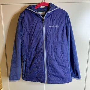 Kids' Columbia Quilted Fleece Zipper Hoodie Jacket